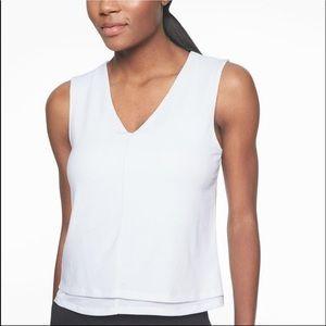 Athleta Essence Double Layered Tank Top White